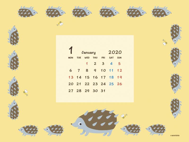 accototo 壁紙 2020年1月