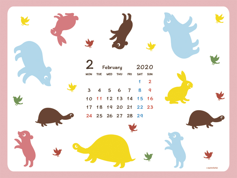 accototo 壁紙 2020年2月