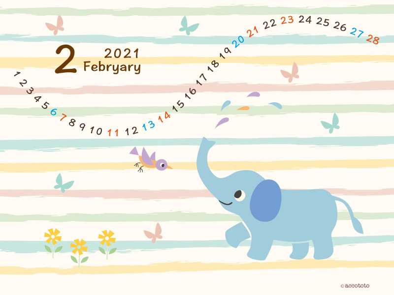 accototo 壁紙 2021年2月