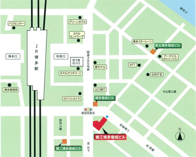 福岡支店マップ