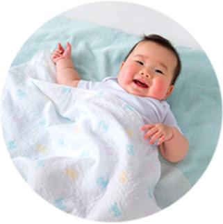 赤ちゃんが喜ぶやさしいガーゼ