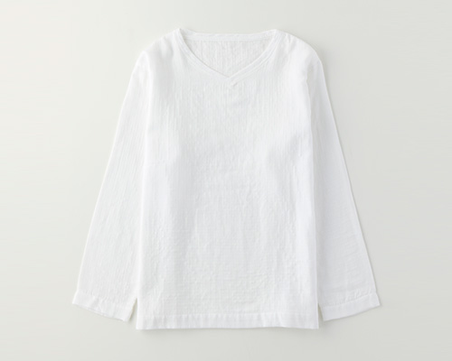 マシュマロガーゼメンズロングTシャツ