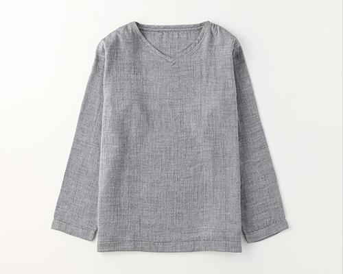 先染めマシュマロガーゼメンズロングTシャツ
