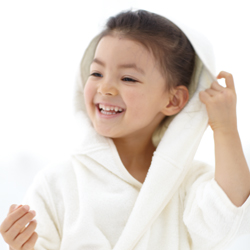 A bathrobe for kids to wrap them in security and warmth
